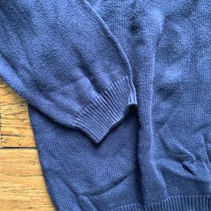 Eddie Bauer Sweaters - Navy Blue Henley Crew Neck Sweater